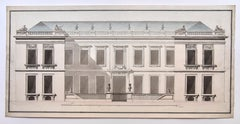 Transition style mansion project around 1760-1770. French school.