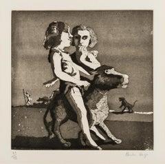 Young Predators -- Print, Etching, Aquatint, Contemporary Art by Paula Rego