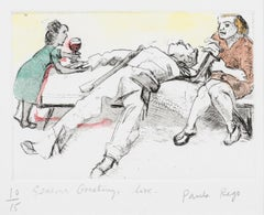 Untitled (Christmas gift) -- Print, Etching, Hand-coloured, Art by Paula Rego