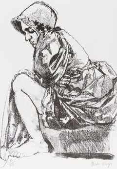 Jane -- Lithograph, Human Figure, Jane Eyre, Contemporary Art by Paula Rego