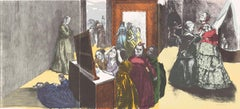 Getting Ready for the Ball -- Triptych, Lithograph, Contemporary by Paula Rego