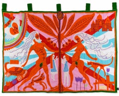 Marriage Flag --  Embroidery, Tapestry, Contemporary Art by Grayson Perry
