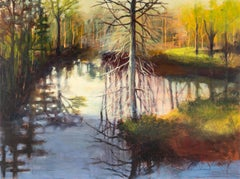 Paradise, June 19, acrylic landscape painting on board