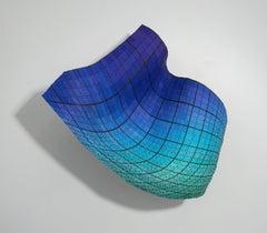 ICS2018seagrnturqprp, chromatic colour wall sculpture