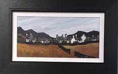 Welsh Atmospheric Landscape 'Village Gwynedd' by Welsh Artist David Barnes