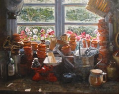 Contemporary Still Life Painting and Interior Scene 'The Potting Shed'