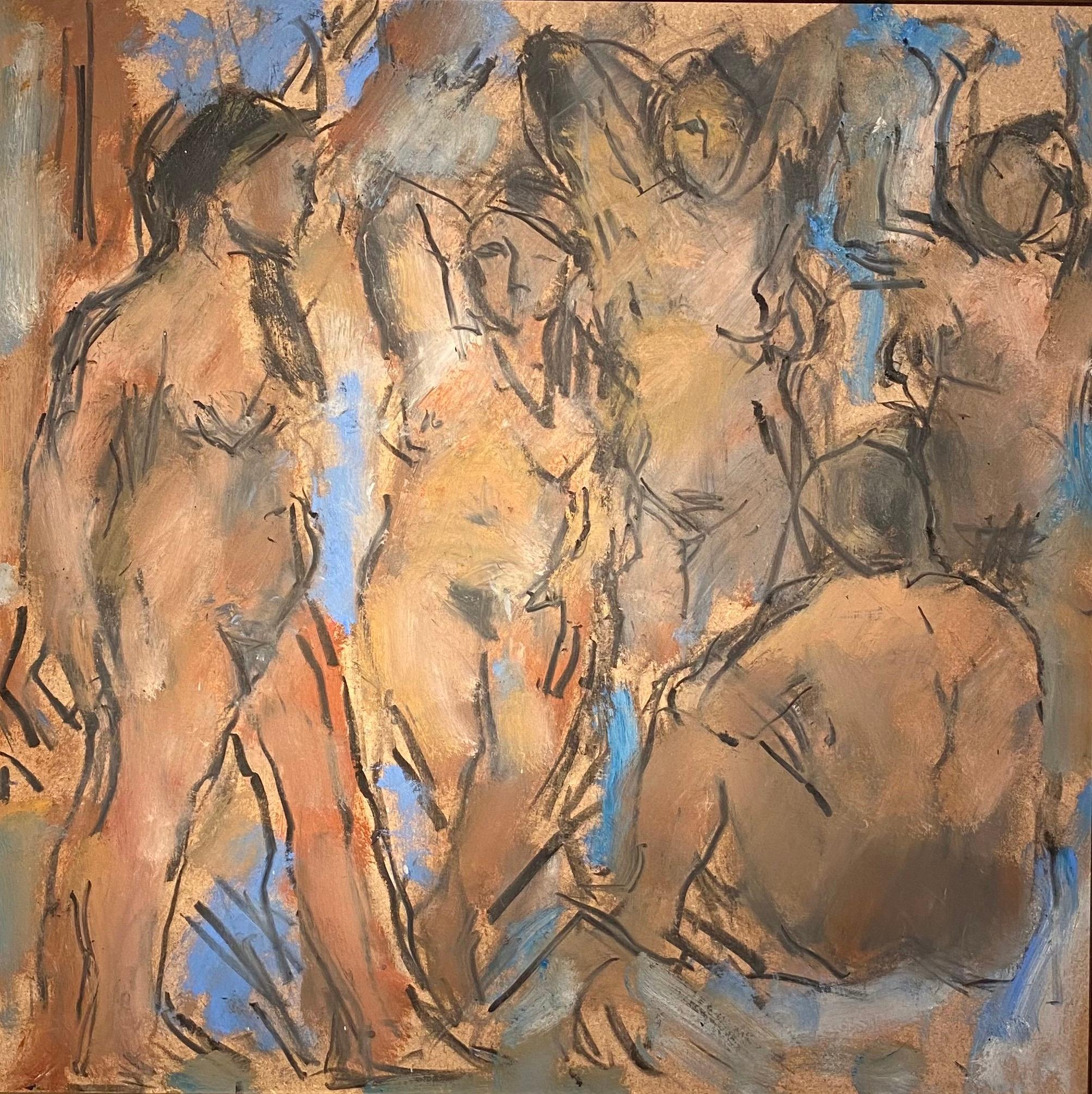 'Re-enacting Picasso' by Ghislaine Howard. Nude Figurative painting inspired
