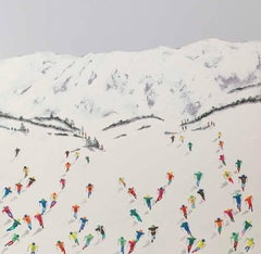 Contemporary Alpine Landscape 3D painting 'The Way Down' by Max Todd