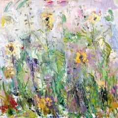 Expressive Abstract Contemporary Painting 'Sunflowers' by Ian Norris