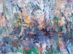 Expressive Abstract Contemporary Painting 'Pond Reflections' by Ian Norris