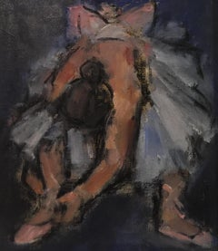 Contemporary Figurative Portrait 'Dancer Tying Her Shoe' by Ghislaine Howard