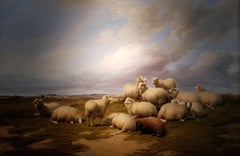 19th Century Landscape 'Resting Sheep' by Thomas Sidney Cooper CVO RA