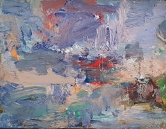 Expressive Abstract Contemporary Painting 'Sefton Coast' by Ian Norris