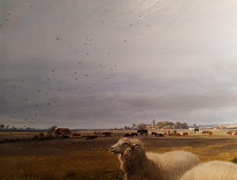 19th Century Landscape 'Resting Sheep' by Thomas Sidney Cooper CVO RA - Painting by Thomas Sidney Cooper RA