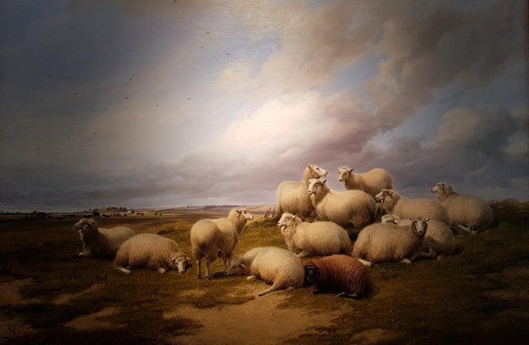 19th Century Landscape 'Resting Sheep' by Thomas Sidney Cooper CVO RA 1