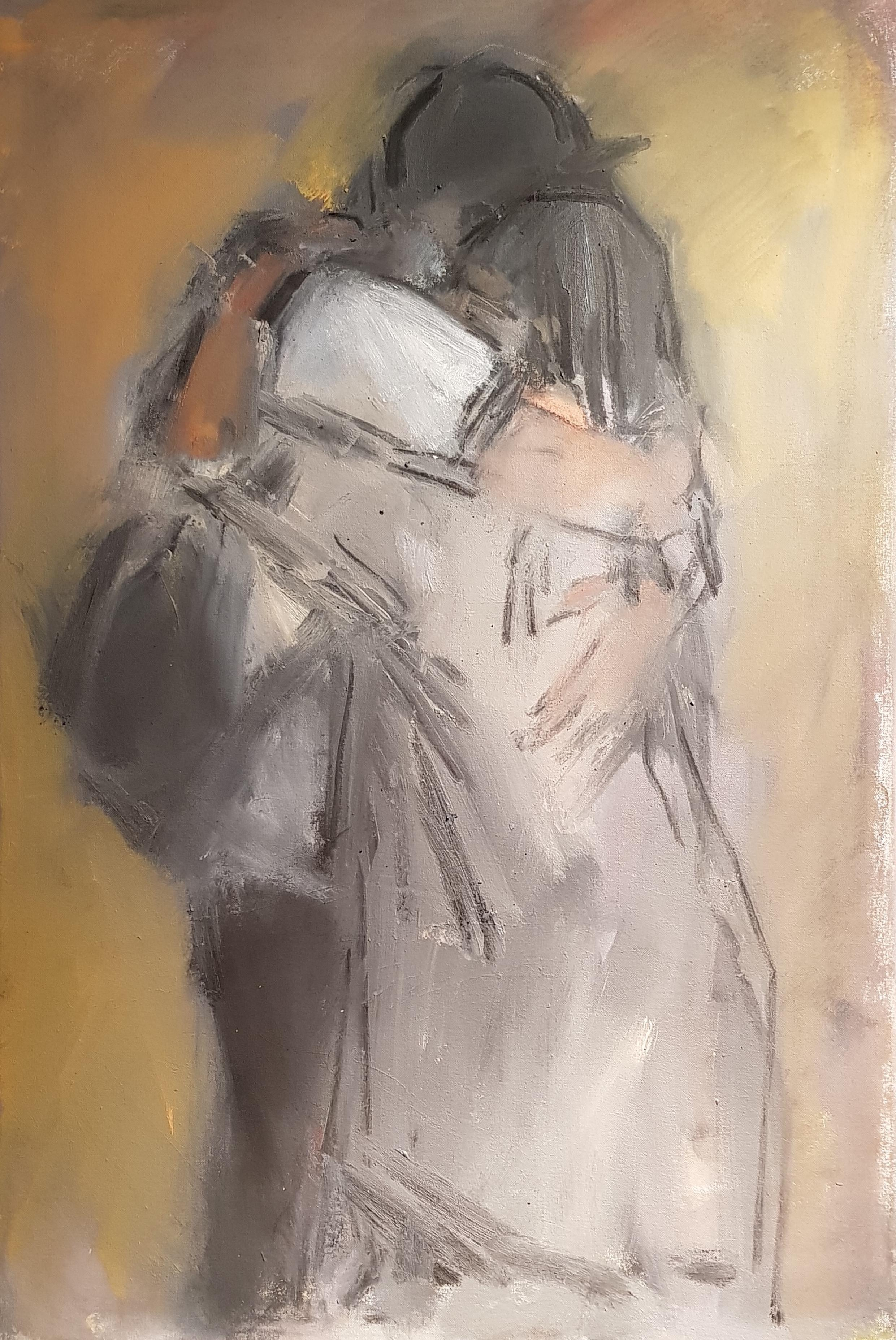 Contemporary Figurative Portrait 'Embracing Manchester' by Ghislaine Howard