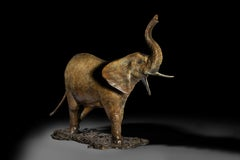 Solid Bronze Contemporary Animal Sculpture 'Elephant' by Tobias Martin