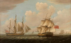 Late 18th Century Sailing Marine Painting 'The Neptune' by Robert Willoughby