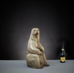 Contemporary Wildlife Polar Bear Sculpture 'Benji' by Tobias Martin