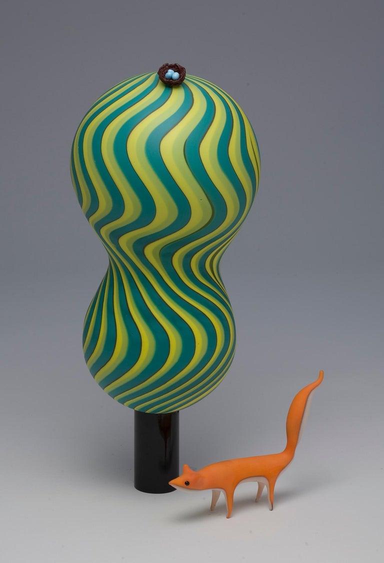 Claire Kelly Figurative Sculpture - Parallax: Earth & Air