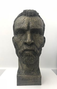 Cold Cast Bronze Bust Sculpture of Vincent Van Gogh by British Sculptor Artist