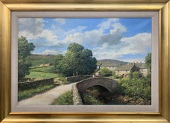 Original Oil Painting of Thwaite Village in Yorkshire Dales England British Art