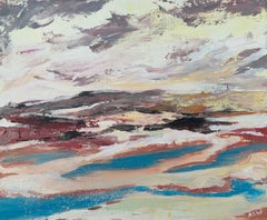 Abstract Study of English Seascape Shoreline by Contemporary British Artist
