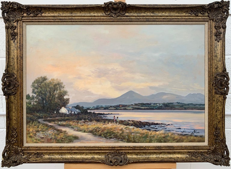 Oil Painting of Murlough Bay with the Mourne Mountains in the Distance Ireland For Sale 10