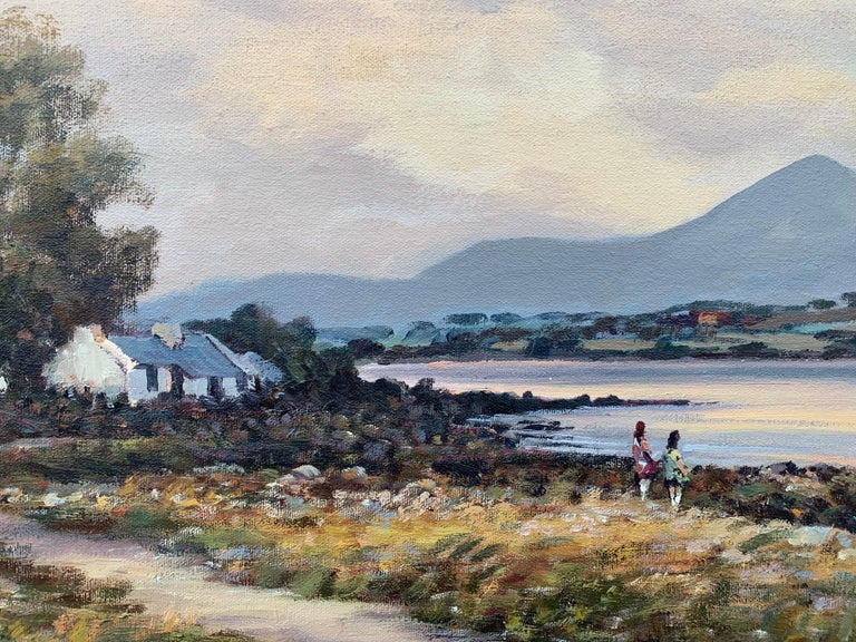 Original Oil Painting of Murlough Bay with the Mourne Mountains in the Distance, Ireland  Art measures 30 x 20 inches Frame measure 36 x 24 inches  William Cunningham was born in 1946. He has painted from a very early age and was influenced over the