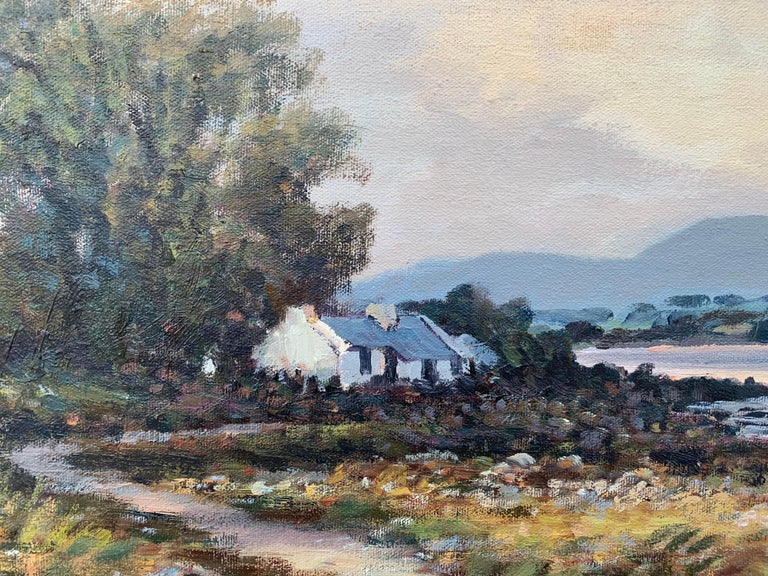 Oil Painting of Murlough Bay with the Mourne Mountains in the Distance Ireland For Sale 1