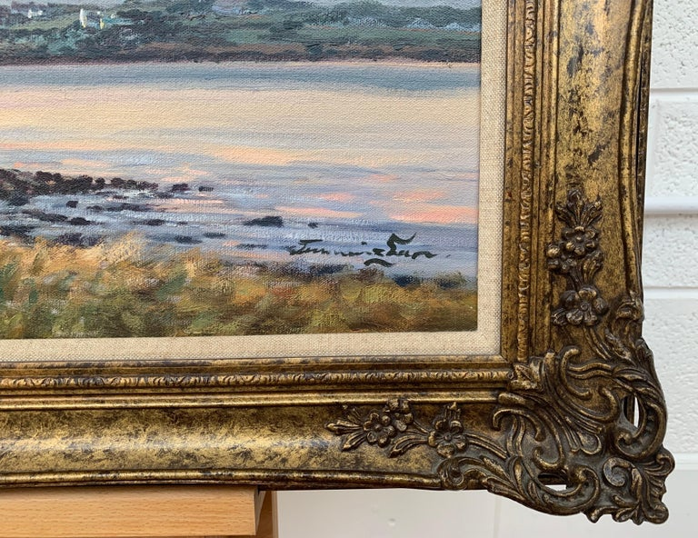 Oil Painting of Murlough Bay with the Mourne Mountains in the Distance Ireland For Sale 2