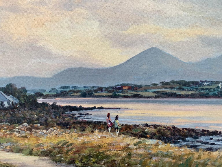 Oil Painting of Murlough Bay with the Mourne Mountains in the Distance Ireland For Sale 6