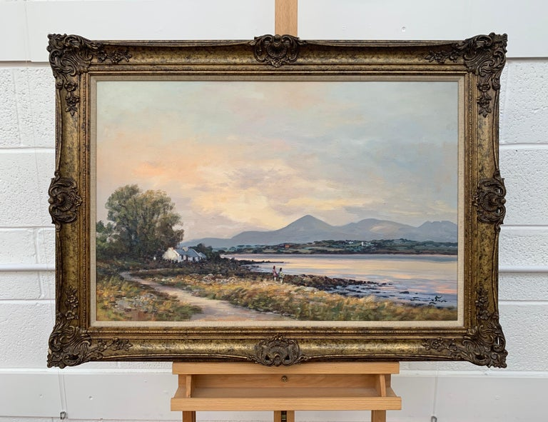 Oil Painting of Murlough Bay with the Mourne Mountains in the Distance Ireland For Sale 9
