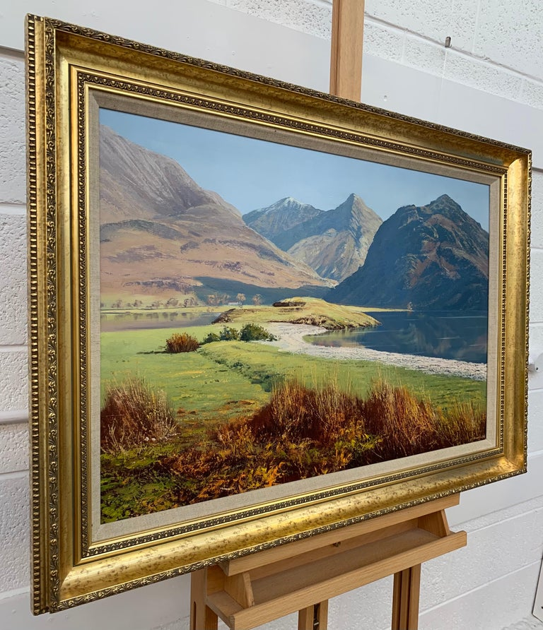 Crummock Water in the English Lake District by Modern British Landscape Artist - Painting by Arthur Terry Blamires