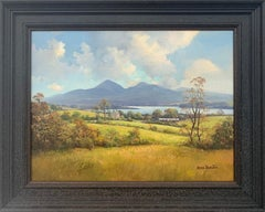Oil Painting of The Mournes Mountains in Northern Ireland by Modern Irish Artist