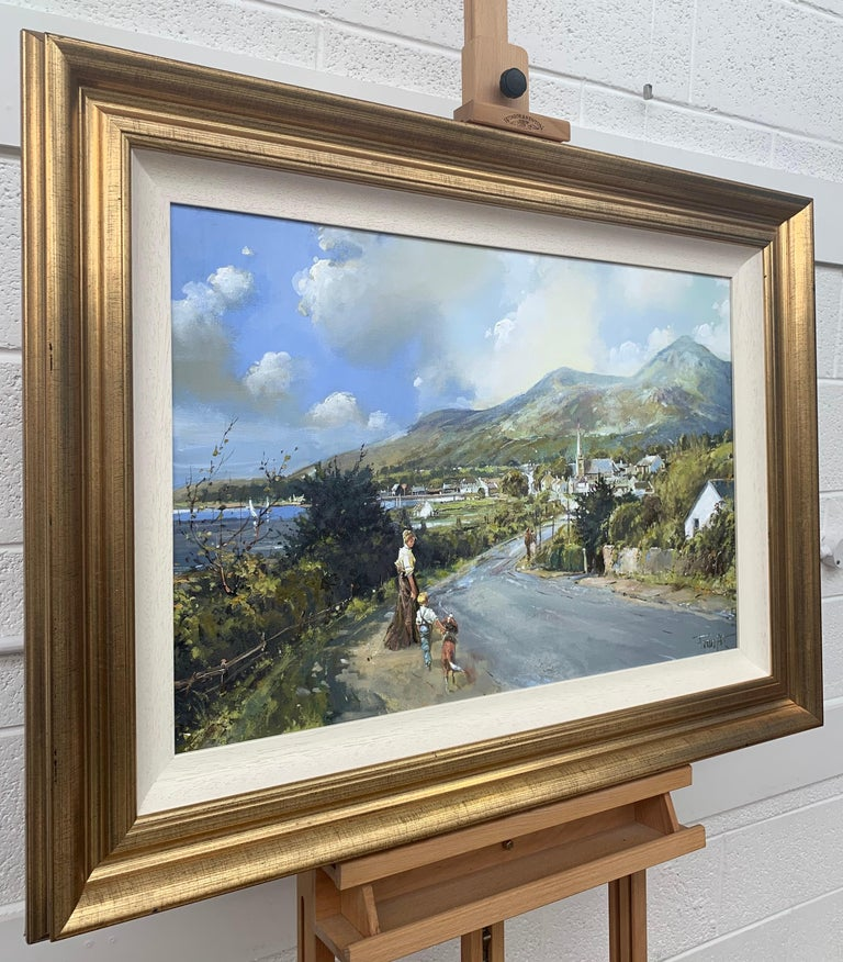 The Road to Dundrum Northern Ireland by Modern Irish Landscape Artist - Painting by Frank Fitzsimons