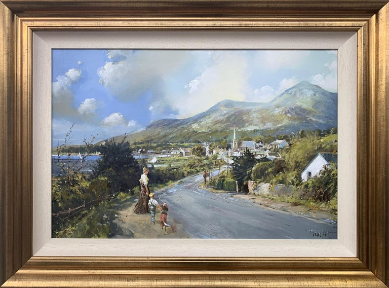 Frank Fitzsimons Landscape Painting - The Road to Dundrum Northern Ireland by Modern Irish Landscape Artist