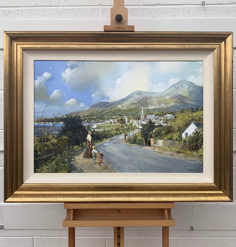 The Road to Dundrum Northern Ireland by Modern Irish Landscape Artist - Post-Impressionist Painting by Frank Fitzsimons