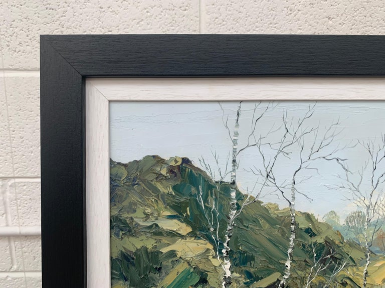 Welsh Landscape with Mountains & Lake Impasto Oil Painting by British Artist For Sale 6