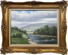 Original Oil Painting of the River Dun in County Antrim Ireland by Irish Artist