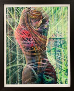 Contemporary Figurative Painting of Female Figure by British Artist