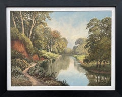 Painting of Idyllic River Scene On the Lagan in Ireland by Modern Irish Artist