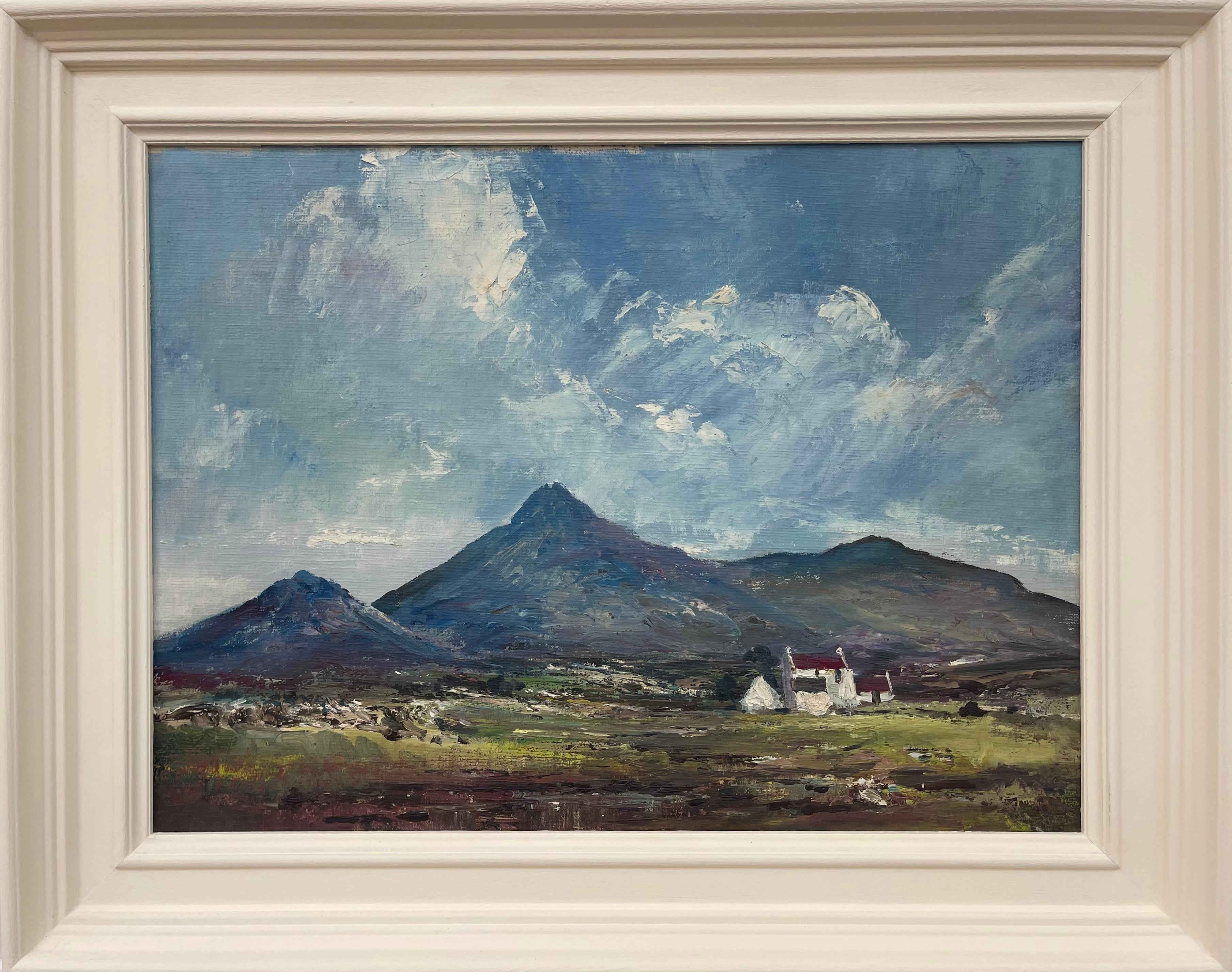 Original Post-War Oil Painting of Stormy Day in Kerry Ireland by Irish Artist