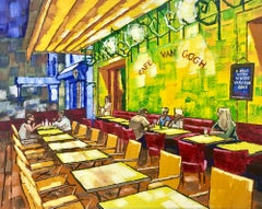 The Cafe Terrace on the Place du Forum Arles at Night after Vincent Van Gogh