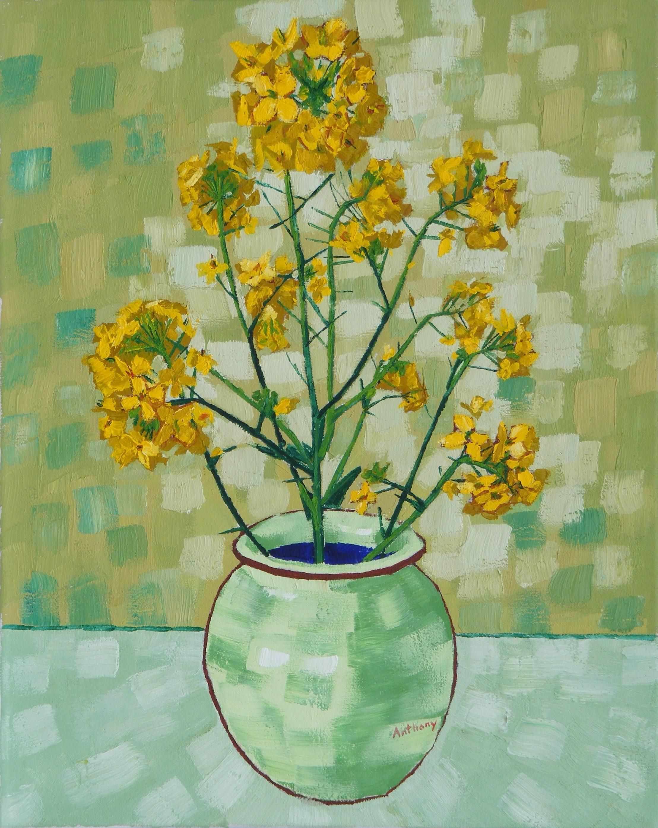 Anthony D Padgett - Rapeseed Still Life Vase with Fourteen Sunflowers after Vincent Van Gogh For Sale at 1stdibs & Anthony D Padgett - Rapeseed Still Life Vase with Fourteen ...