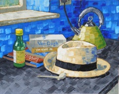 Still Life Painting with Yellow Straw Hat after Vincent Van Gogh Nuenen 1885