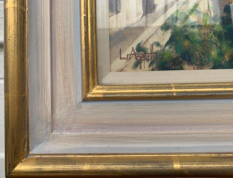 The Loire Montsoreau France Landscape Pastel Art by 20th Century British Artist 3