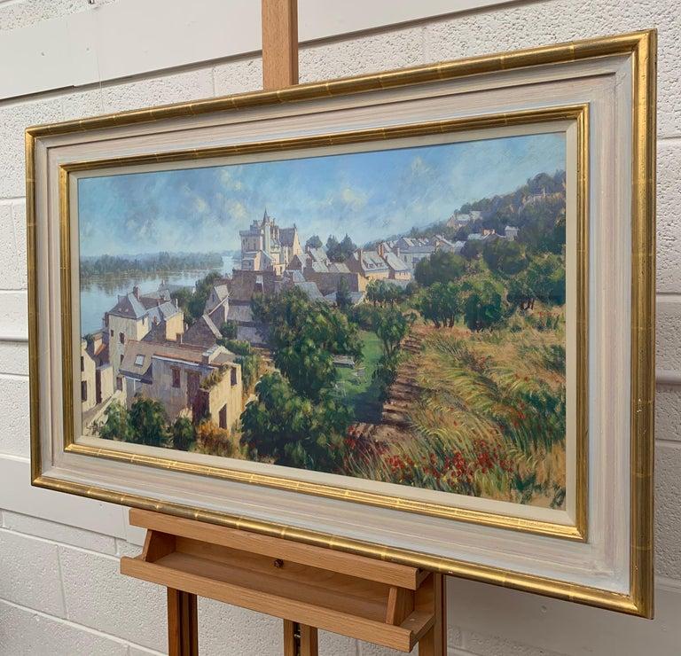The Loire Montsoreau France Landscape Pastel Art by 20th Century British Artist 2