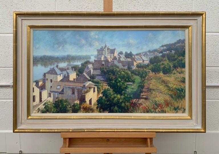 The Loire Montsoreau France Landscape Pastel Art by 20th Century British Artist 1