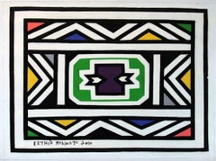 Untitled (Abstract Geometric South African Ndbele Painting)
